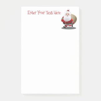 Papá Noel feliz con un saco lleno de regalos Notas Post-it®