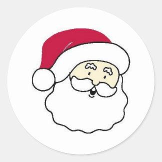 Papá Noel hace frente Pegatina Redonda