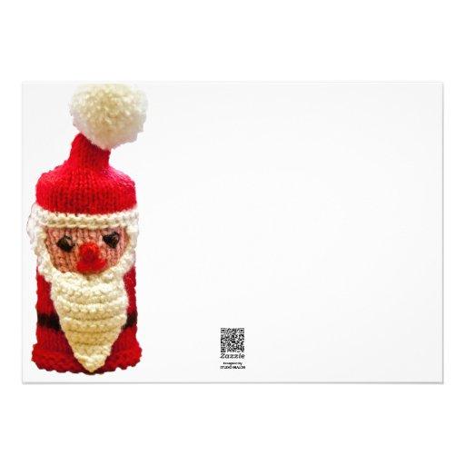 Papá Noel hecho punto Invitación