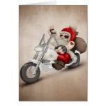 Papá Noel motorizado Tarjetas
