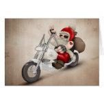 Papá Noel motorizado Tarjetón