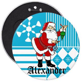 Papá Noel personalizó los botones conocidos de la  Chapa Redonda De 15 Cm
