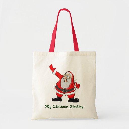 Papá Noel, regalos del navidad del padre Bolsas De Mano