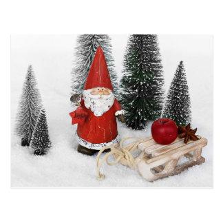 Papá Noel y la postal del trineo