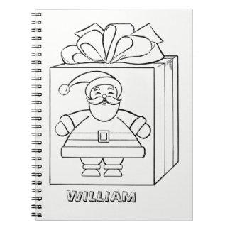 Papá Noel y presentes me colorean personalizado Cuaderno