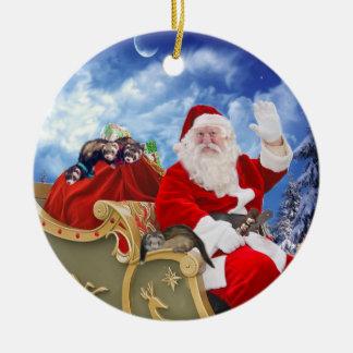 Papá Noel y su ornamento del navidad de los
