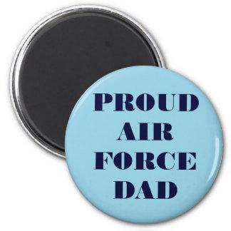 Papá orgulloso de la fuerza aérea del imán