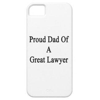 Papá orgulloso de un gran abogado iPhone 5 cárcasa