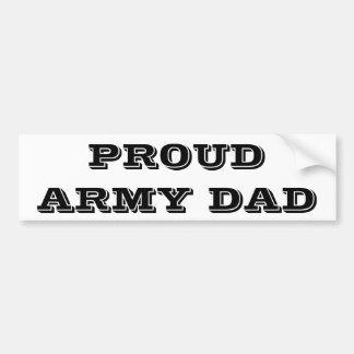 Papá orgulloso del ejército de la pegatina para el pegatina para coche