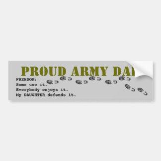PAPÁ orgulloso del ejército Pegatina Para Coche