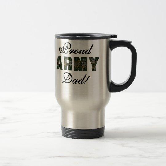 Papá orgulloso del ejército taza de viaje
