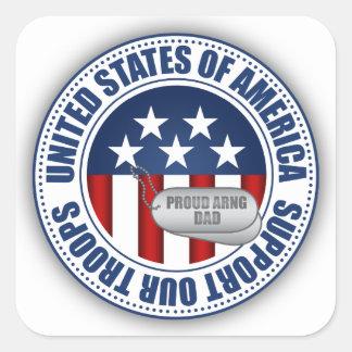 Papá orgulloso del Guardia Nacional del ejército Calcomanía Cuadradas