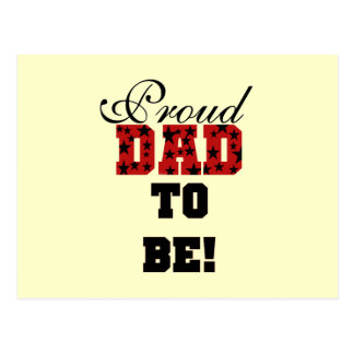 Papá orgulloso rojo y negro a ser camisetas y rega postal