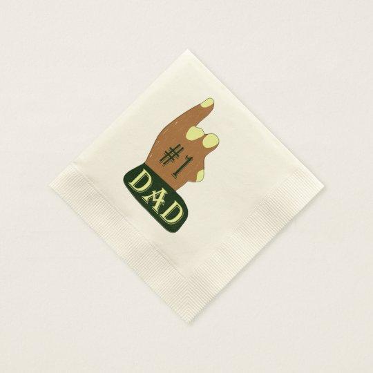Papá verde del amarillo #1 servilletas desechables