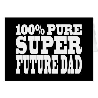 Papás y padres a ser Papá futuro estupendo puro d Tarjetas