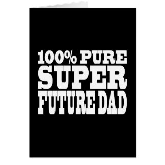 Papás y padres a ser: Papá futuro estupendo puro d Tarjeta