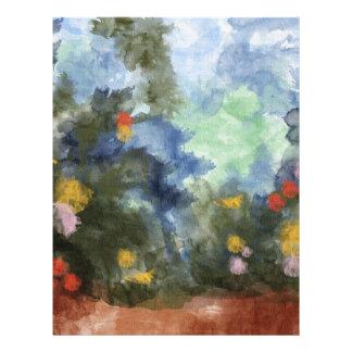 Papel, acuarela florecida de la trayectoria folleto 21,6 x 28 cm
