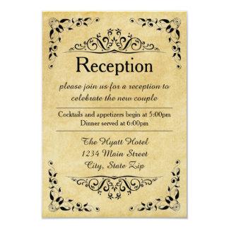 Papel antiguo - invitación de la recepción