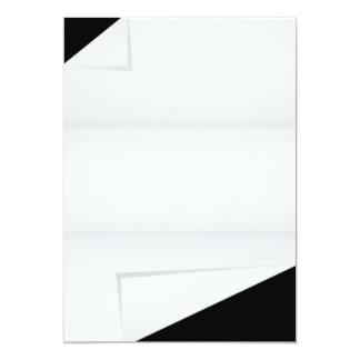 Papel con las esquinas dobladas invitación 12,7 x 17,8 cm