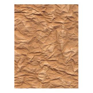 Papel de Brown arrugado Postal