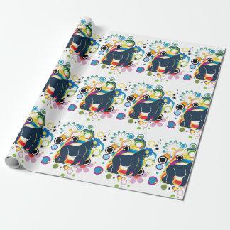 Papel de embalaje abstracto del gorila papel de regalo