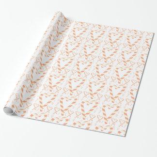 Papel de embalaje anaranjado de CandyCane del