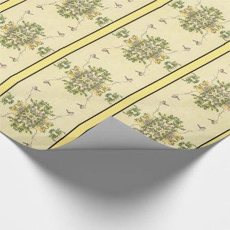 Papel de embalaje asiático de las flores del