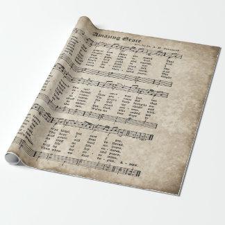Papel de embalaje asombroso de la música del himno