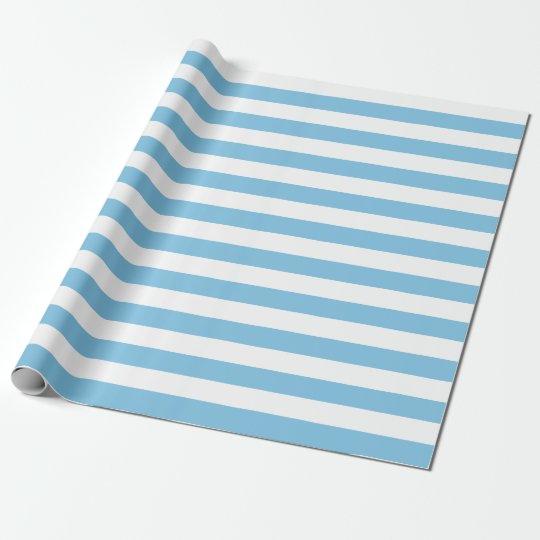 Papel de embalaje azul claro y blanco grande de