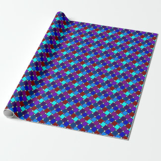 Papel de embalaje azul del harlequin