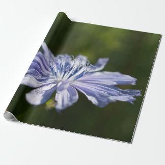 """Papel de embalaje azul del Wildflower, 30"""" x 6'"""