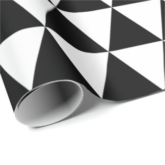 Papel de embalaje blanco y negro de los triángulos
