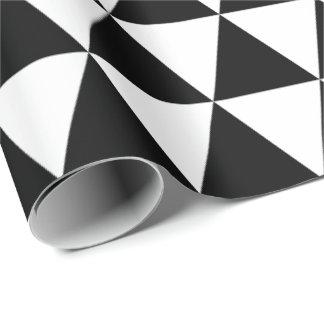 Papel de embalaje blanco y negro de los triángulos papel de regalo