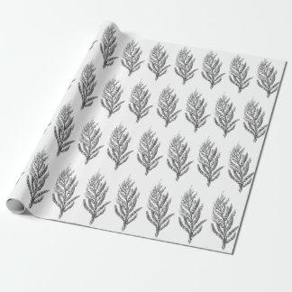 papel de embalaje botánico floral del vintage papel de regalo