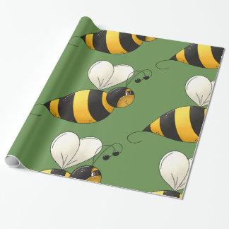 Papel de embalaje brillante de la abeja regordeta