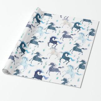 Papel de embalaje brillante de los unicornios