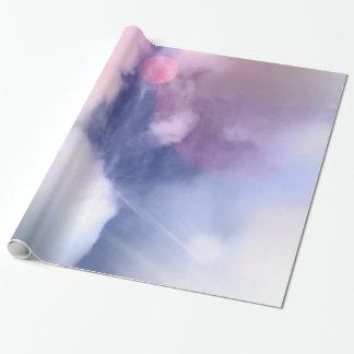 Papel de embalaje brillante del cielo colorido,