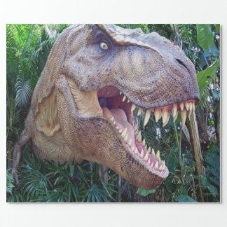 Papel de embalaje brillante del dinosaurio para papel de regalo