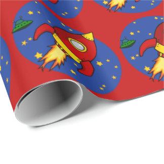 """Papel de embalaje brillante rojo de Rocket 30"""" x6"""