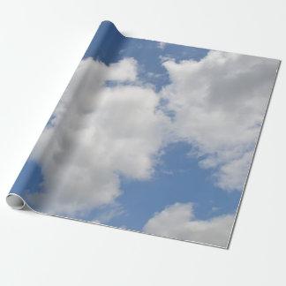 Papel de embalaje caprichoso de la nube