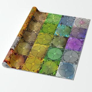 Papel de embalaje colorido del laberinto