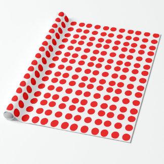 Papel de embalaje con los lunares rojos papel de regalo