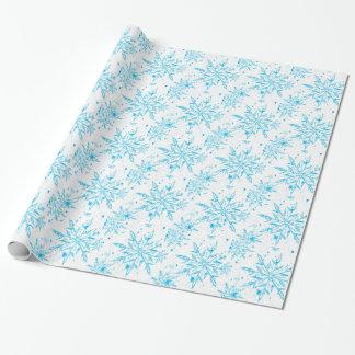 Papel de embalaje congelado del copo de nieve del