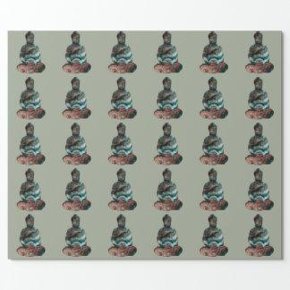 Papel de embalaje de Buda de la piedra preciosa