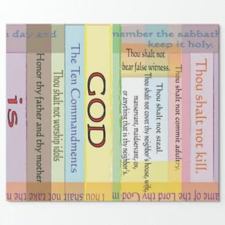 Papel de embalaje de diez mandamientos