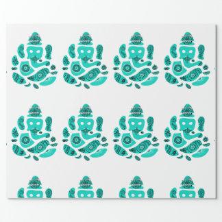 Papel de embalaje de dios de Ganesha Elepnat, 30 Papel De Regalo