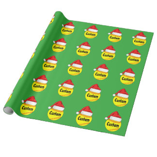 Papel de embalaje de encargo del navidad del gorra