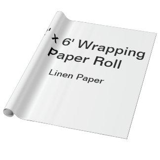 Papel de embalaje de encargo (rollo 2x6, papel de papel de regalo
