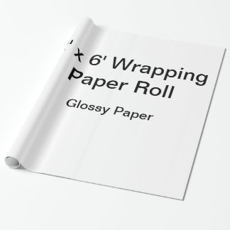Papel de embalaje de encargo (rollo 2x6, papel papel de regalo