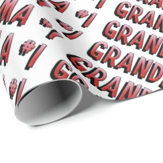 Papel de embalaje de la abuela del número uno papel de regalo